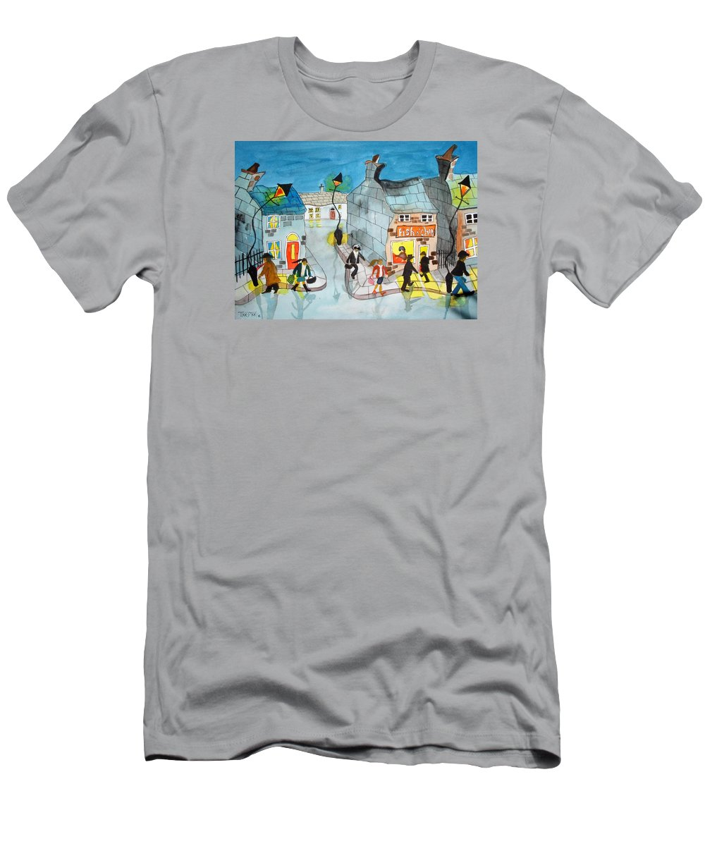 Watercolour Men's T-Shirt (Athletic Fit) featuring the painting Supper Time by Trudy Kepke
