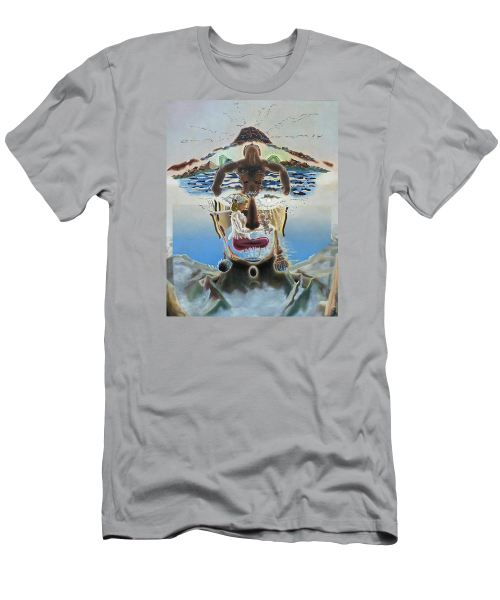 Surreal Men's T-Shirt (Athletic Fit) featuring the painting Surreal Memories by Dave Martsolf