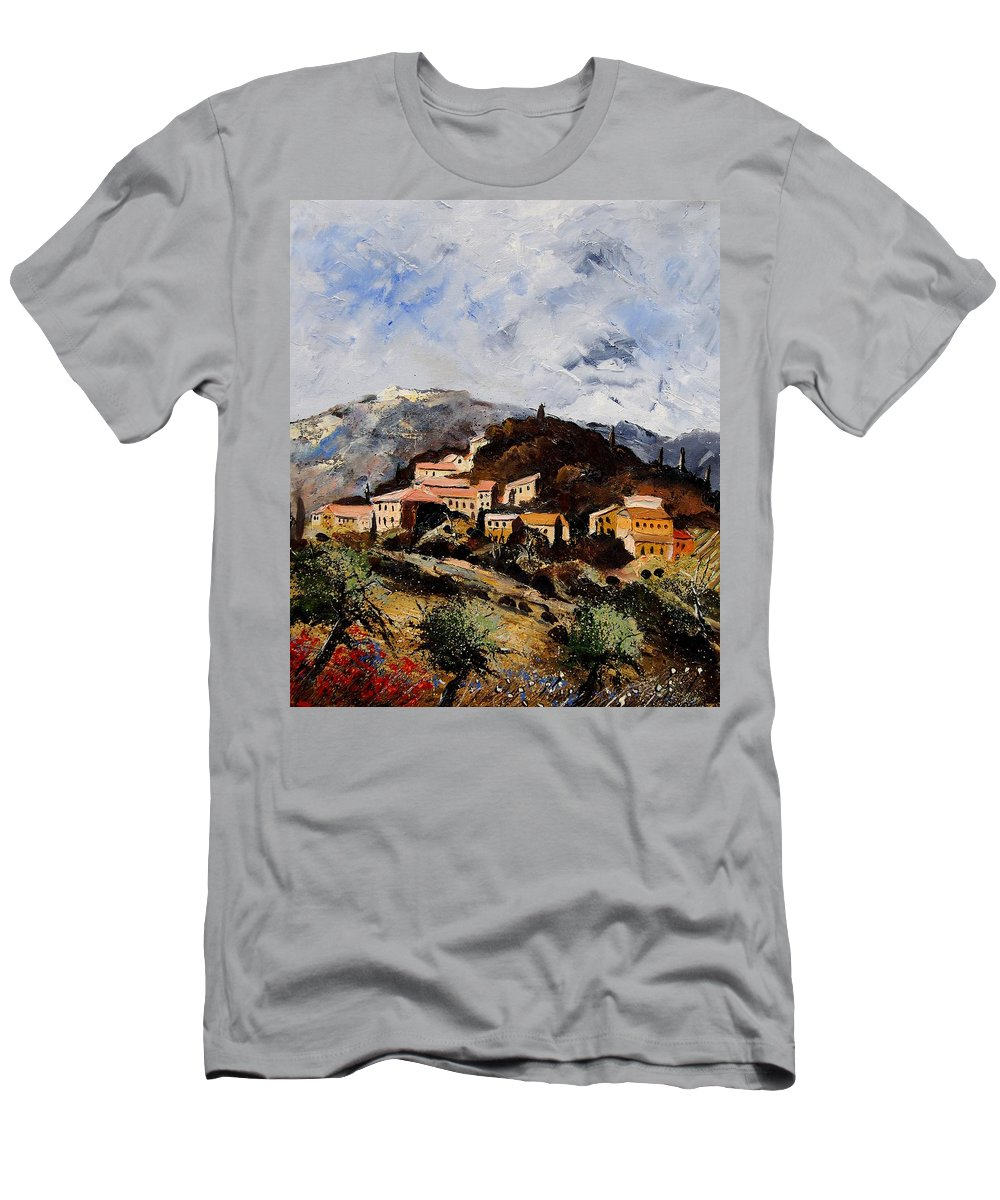 Tree Men's T-Shirt (Athletic Fit) featuring the painting Suzette Provence by Pol Ledent
