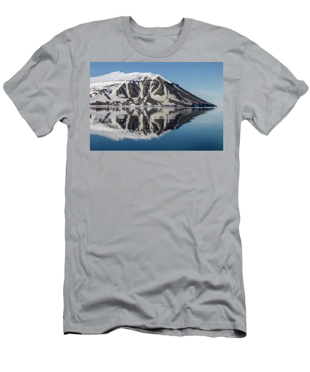 Svalbard Men's T-Shirt (Athletic Fit) featuring the photograph Svalbard Reflection 2 by Russell Millner