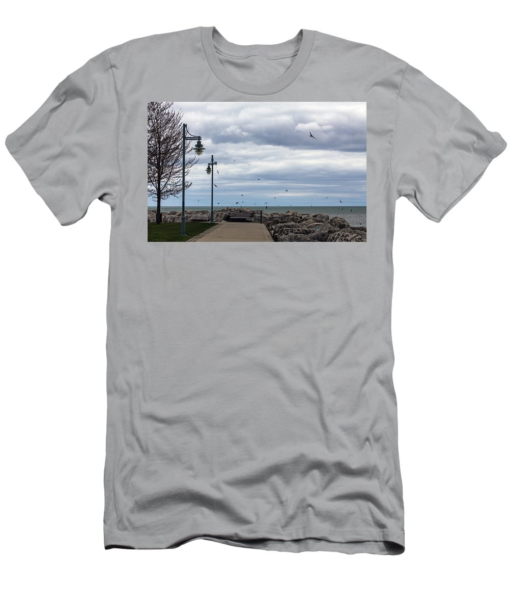 Swallows Men's T-Shirt (Athletic Fit) featuring the photograph Swallows by Alexandra Nielsen