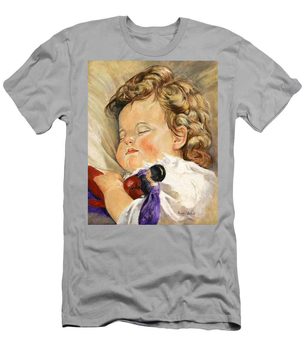 Children Portraits Men's T-Shirt (Athletic Fit) featuring the painting Sweet Dreams by Portraits By NC
