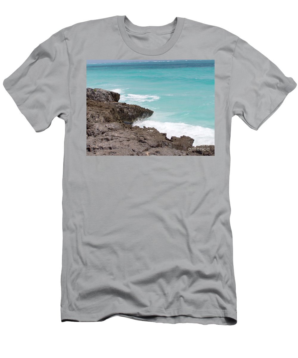 Water Men's T-Shirt (Athletic Fit) featuring the photograph Sweet Saltyness by Amanda Barcon