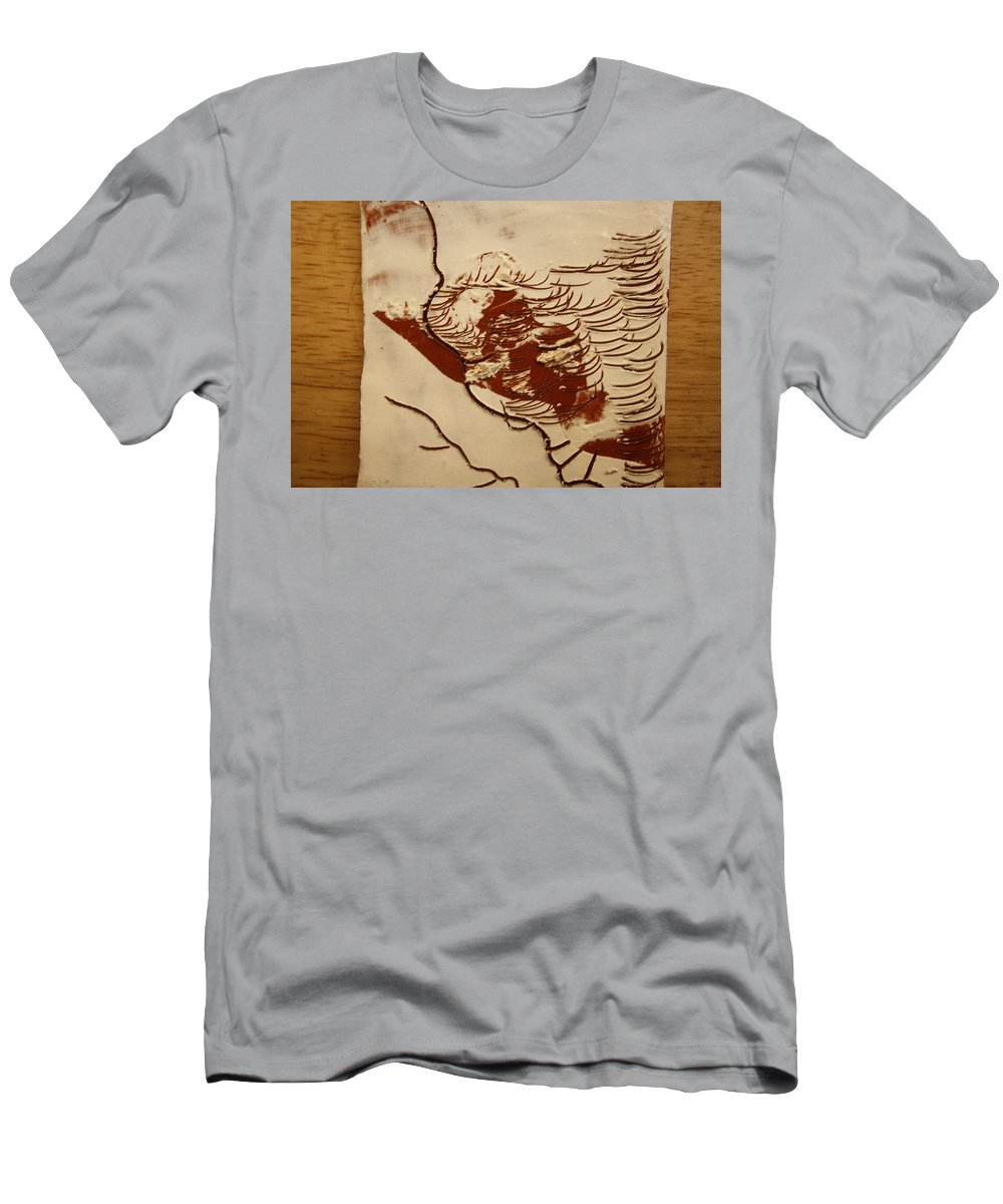 Jesus Men's T-Shirt (Athletic Fit) featuring the ceramic art Sweethearts 4 - Tile by Gloria Ssali