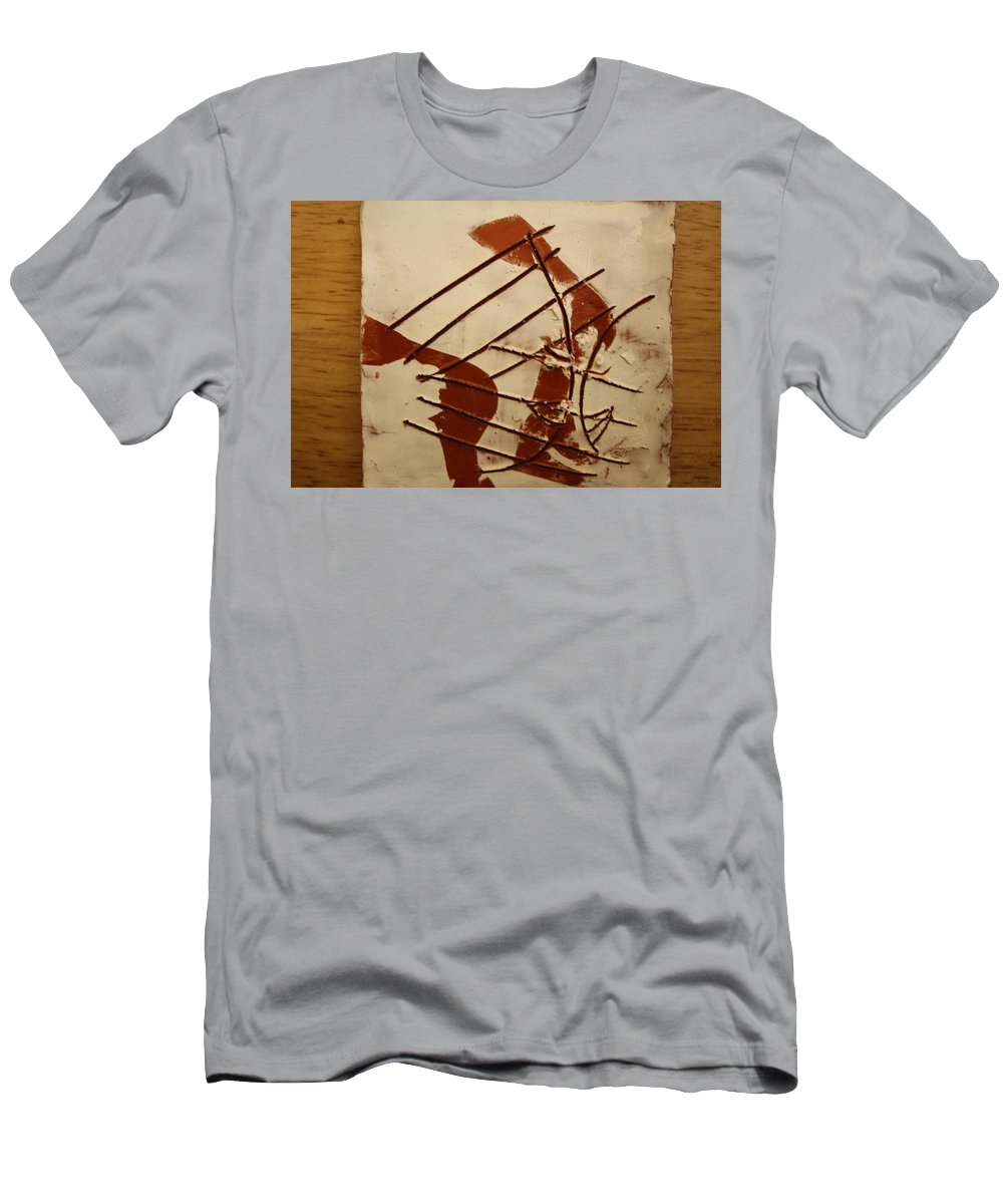Jesus Men's T-Shirt (Athletic Fit) featuring the ceramic art Sweethearts 5 - Tile by Gloria Ssali