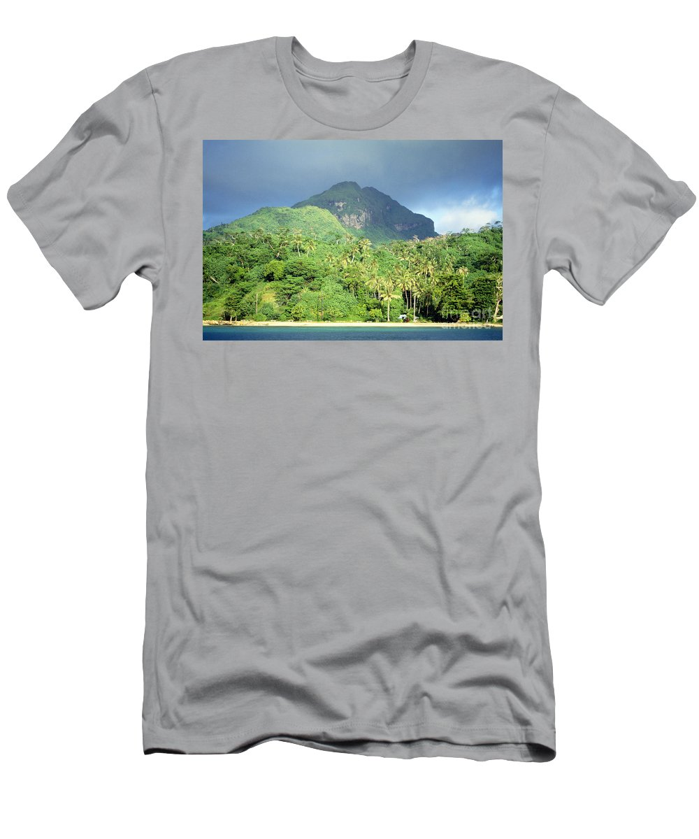 Across Men's T-Shirt (Athletic Fit) featuring the photograph Tahiti by Rita Ariyoshi - Printscapes