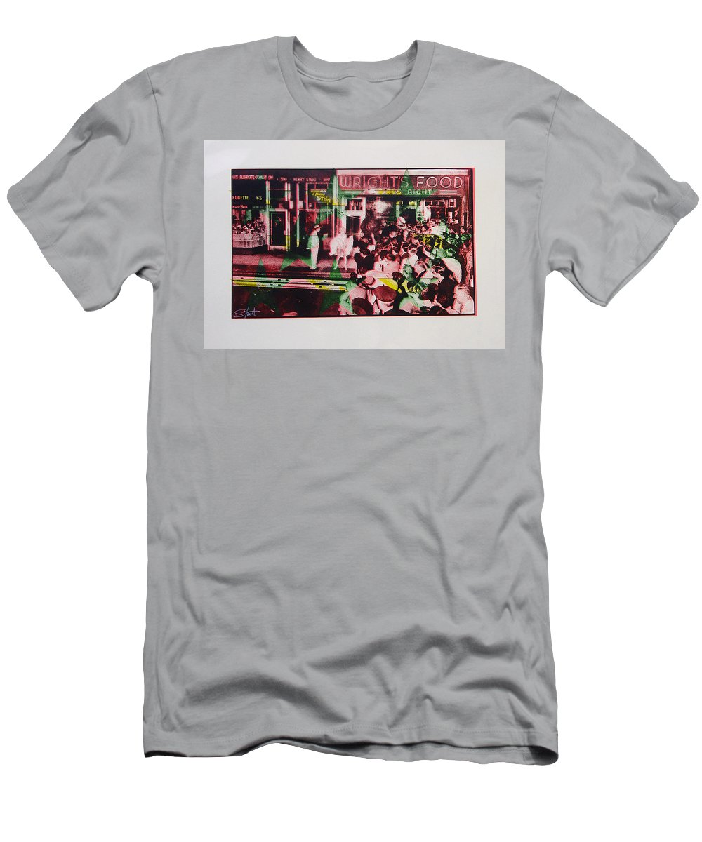 Marilyn Monroe Men's T-Shirt (Athletic Fit) featuring the mixed media Take Five by Charles Stuart
