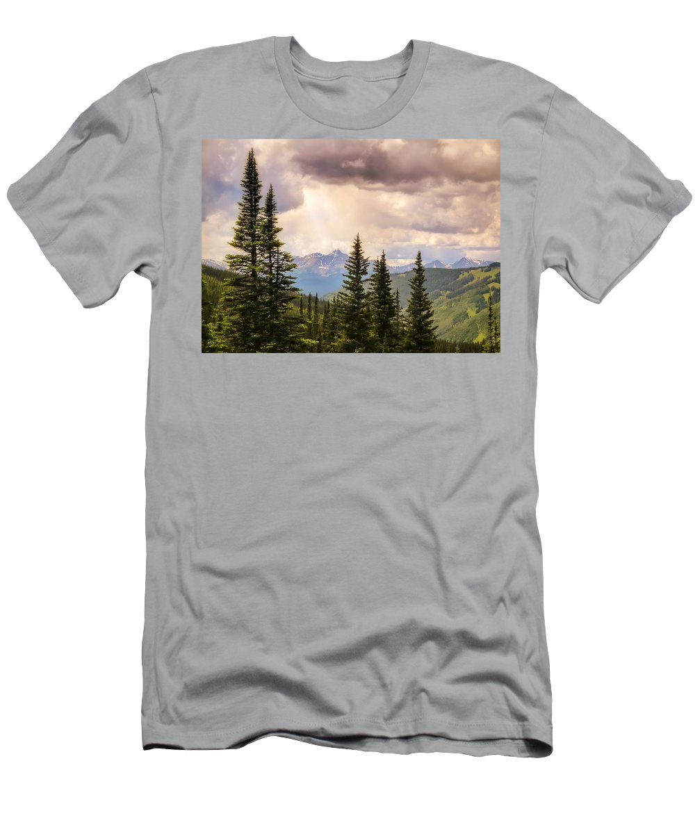 Heavens Men's T-Shirt (Athletic Fit) featuring the photograph Take Heart by LeAnne Perry