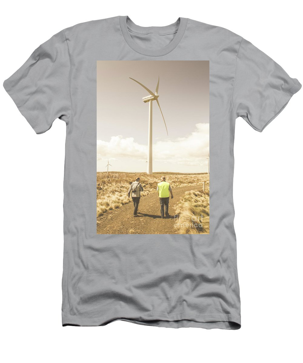 Turbine T-Shirt featuring the photograph Tasmania Turbine Tours by Jorgo Photography - Wall Art Gallery