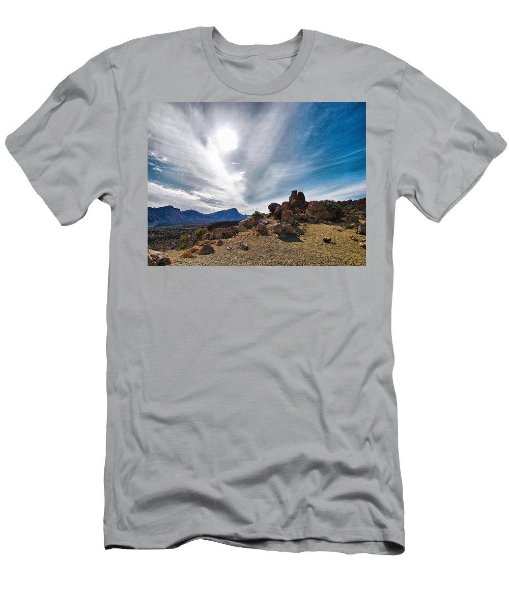Landscape Men's T-Shirt (Athletic Fit) featuring the photograph Teide Nr 9 by Jouko Lehto