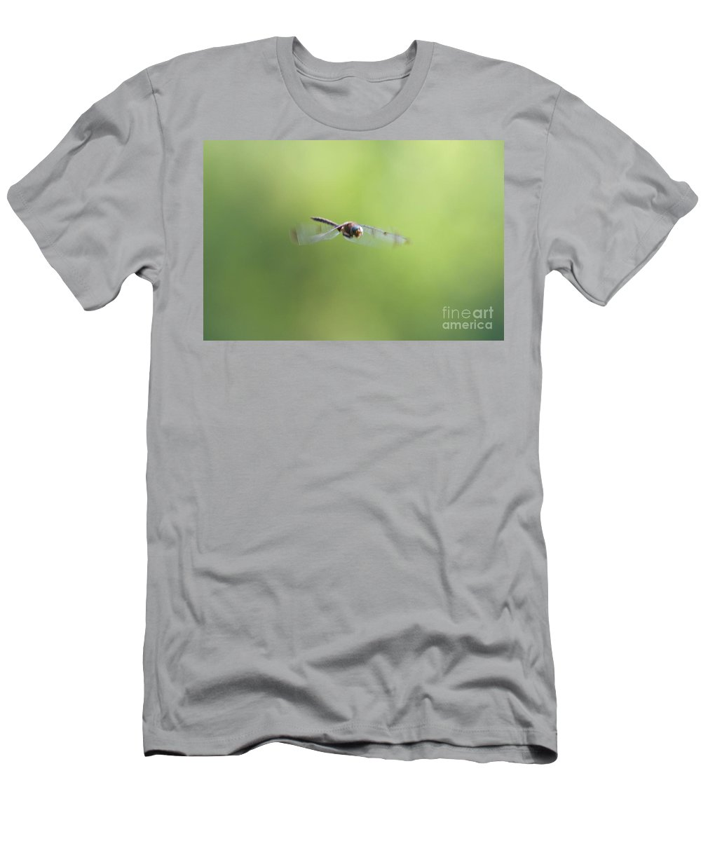 Dragonfly Men's T-Shirt (Athletic Fit) featuring the photograph Telephoto Dragonfly by John Franke