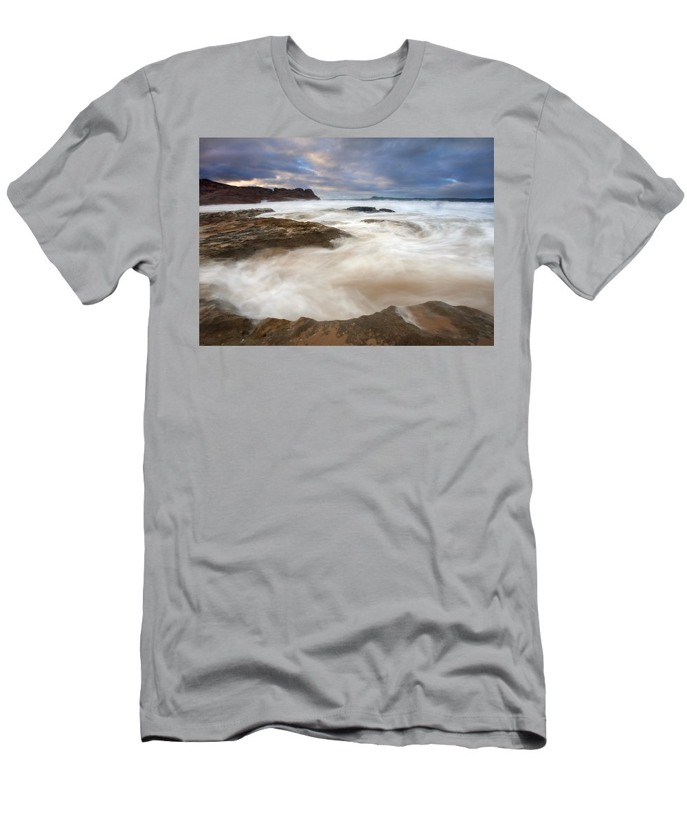 Bowl Men's T-Shirt (Athletic Fit) featuring the photograph Tempestuous Sea by Mike Dawson