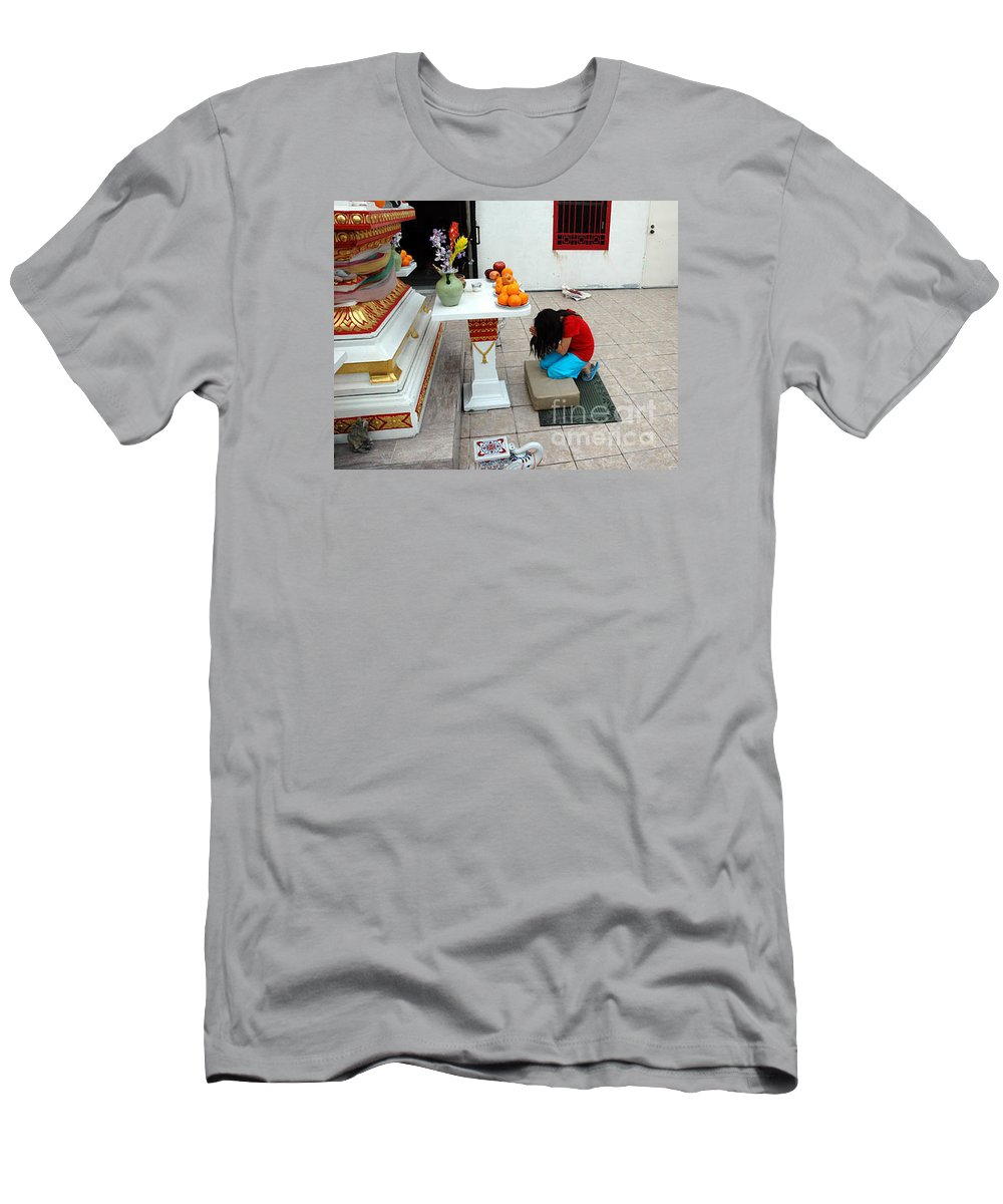 Child Men's T-Shirt (Athletic Fit) featuring the photograph Temple Prayer by Michael Ziegler