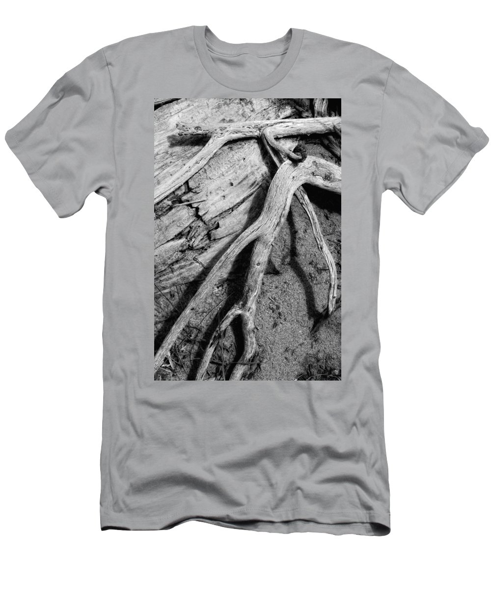 Wood Men's T-Shirt (Athletic Fit) featuring the photograph Tender Death by Donna Blackhall