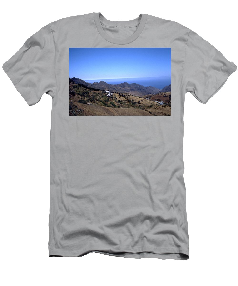 Tenerife Men's T-Shirt (Athletic Fit) featuring the photograph Tenerife II by Flavia Westerwelle