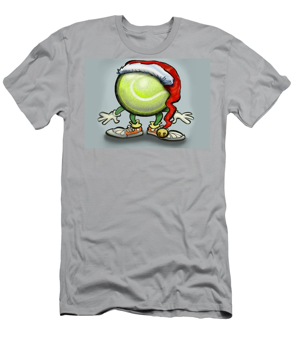 Tennis T-Shirt featuring the greeting card Tennis Christmas by Kevin Middleton