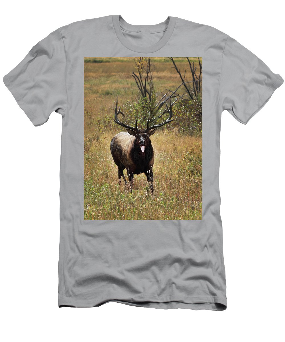 Tongue Men's T-Shirt (Athletic Fit) featuring the photograph That Moment When by Shane Bechler