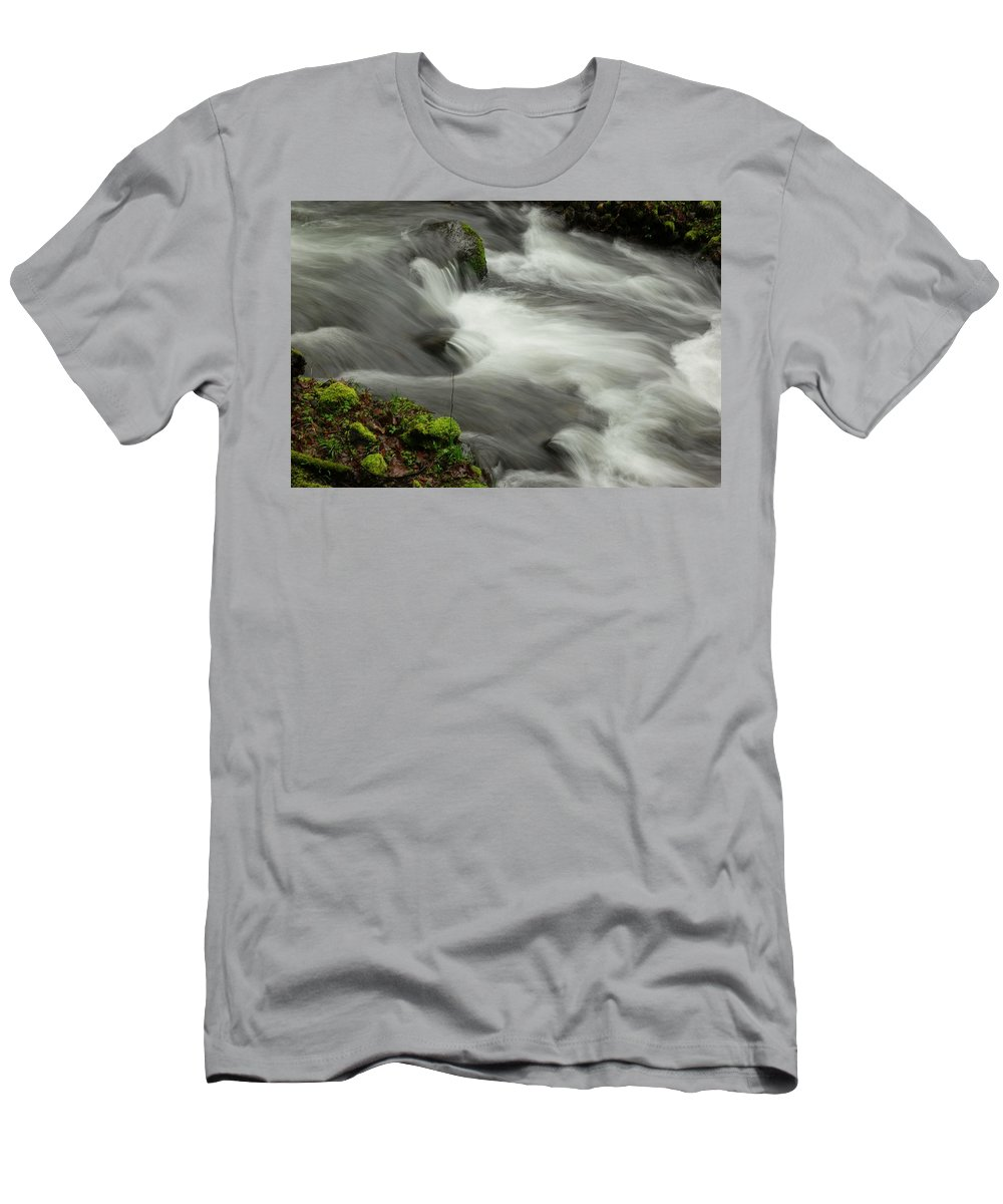 Water. Flowing Men's T-Shirt (Athletic Fit) featuring the photograph That View Of The Flow by Jeff Swan