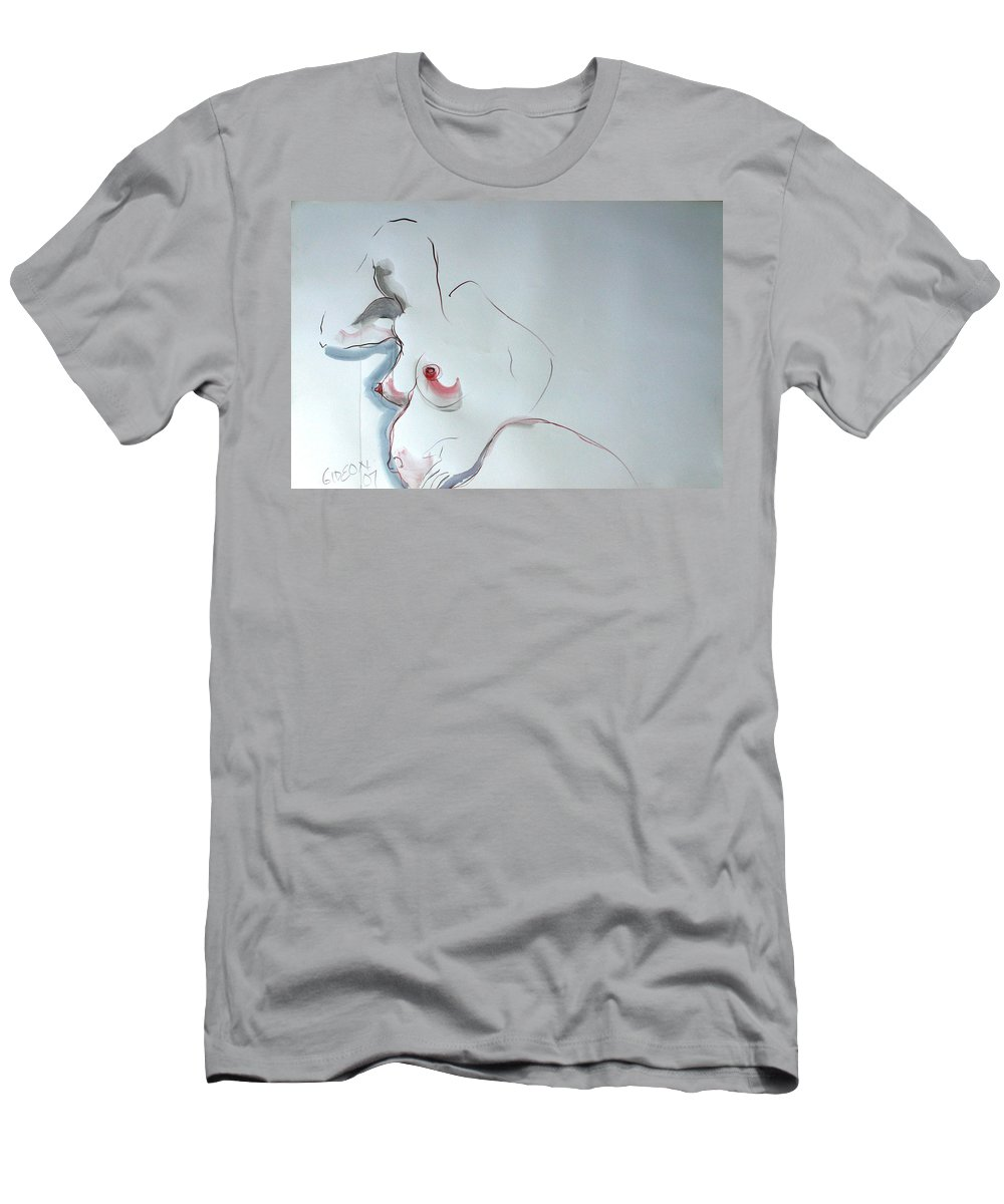 Drawing Men's T-Shirt (Athletic Fit) featuring the drawing The 10th Month II by Gideon Cohn