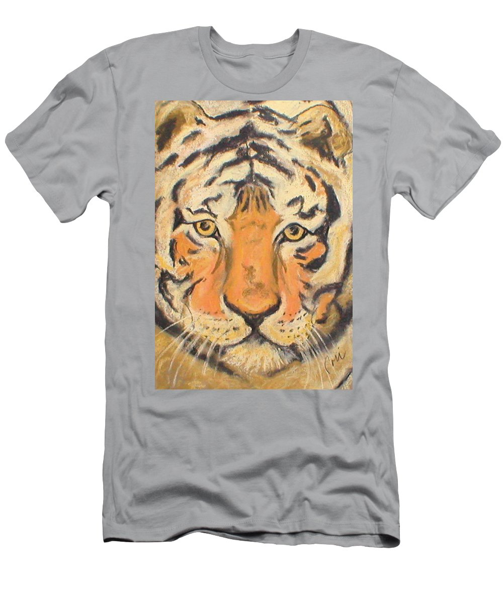 Pastel Men's T-Shirt (Athletic Fit) featuring the drawing The Amber Stare by Cori Solomon