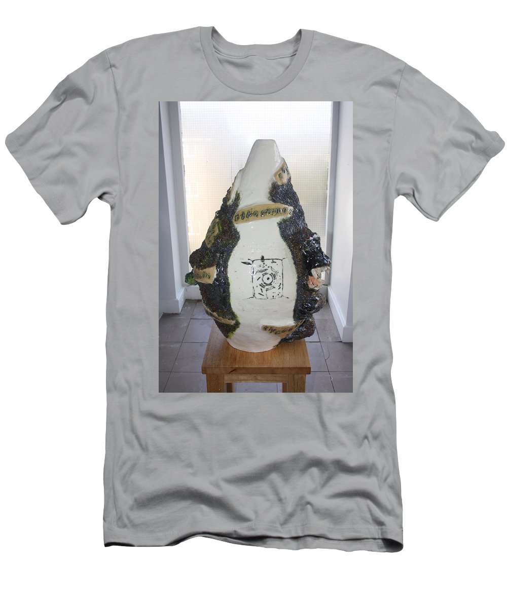 Jesus Men's T-Shirt (Athletic Fit) featuring the sculpture The Animal Cell - View Two by Gloria Ssali