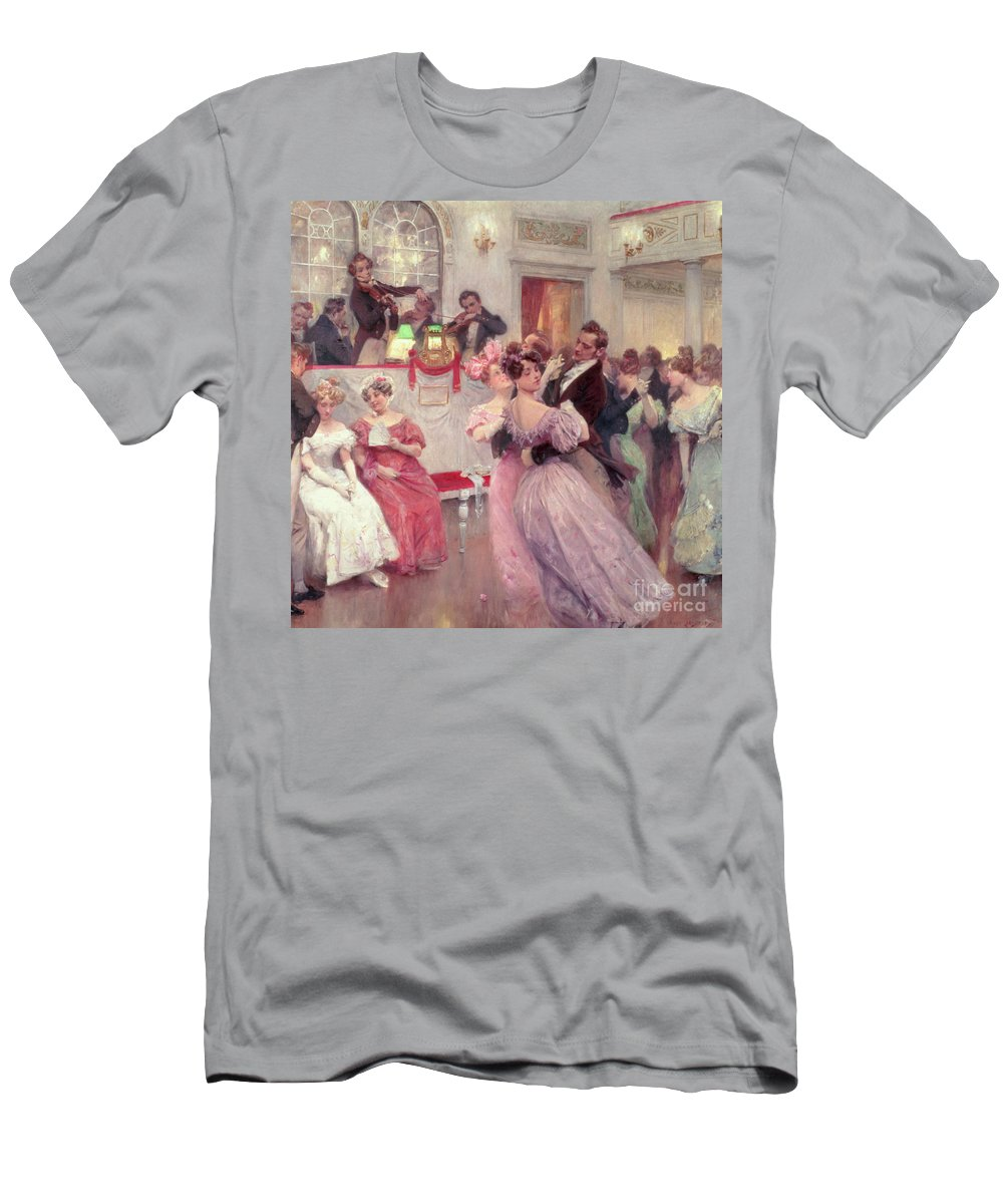 Dancing Men's T-Shirt (Athletic Fit) featuring the painting The Ball by Charles Wilda