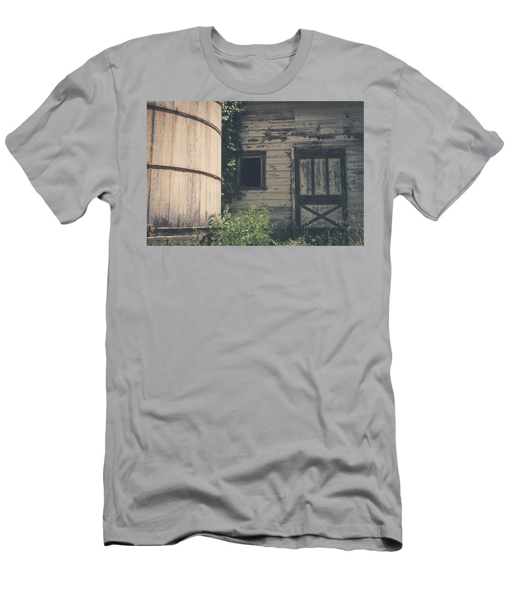 Barn Rustic Building Photography Landscape Old Men's T-Shirt (Athletic Fit) featuring the photograph The Barn by Robert Worth
