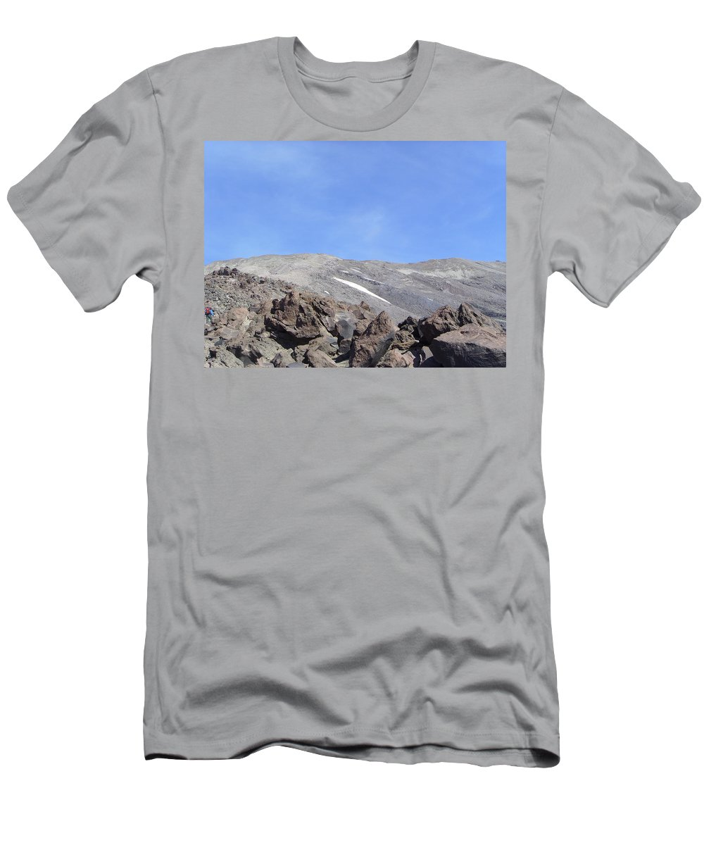 Mt St Helens.mountains Men's T-Shirt (Athletic Fit) featuring the photograph The Base Of Mt St Helens by Jeff Swan