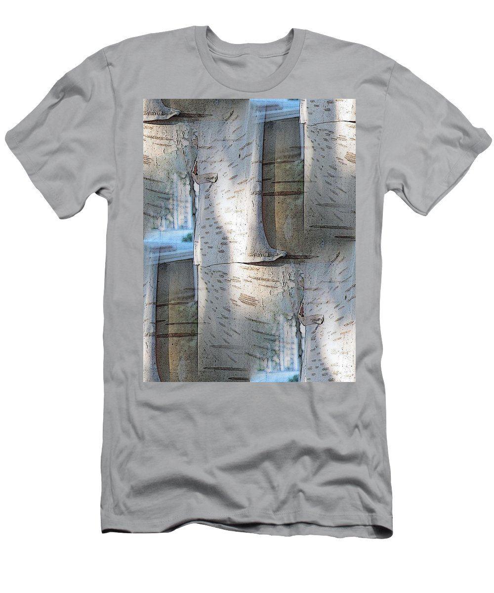 Birch Men's T-Shirt (Athletic Fit) featuring the digital art The Birch by Tim Allen