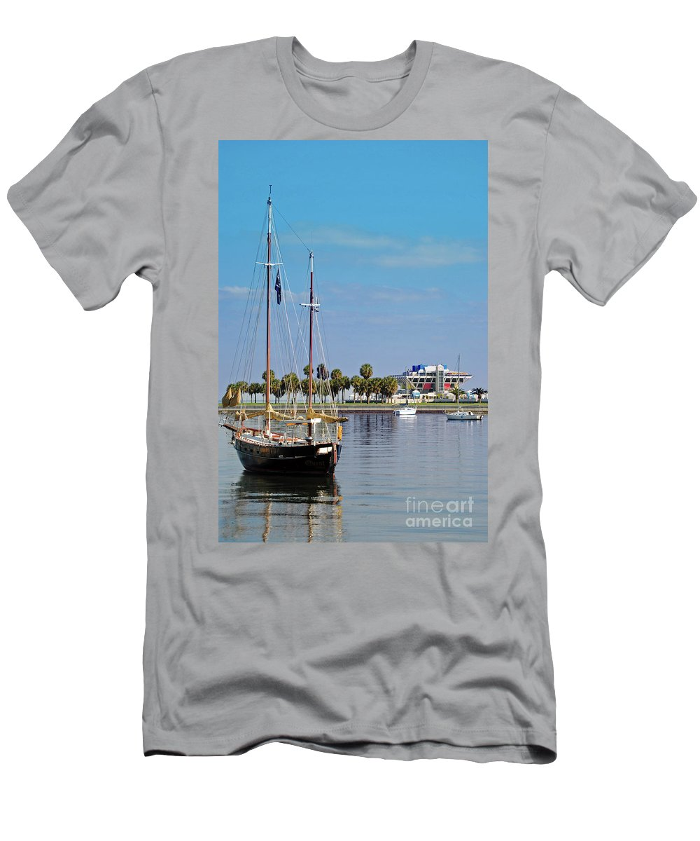 Boat Men's T-Shirt (Athletic Fit) featuring the photograph The Boat by Jost Houk