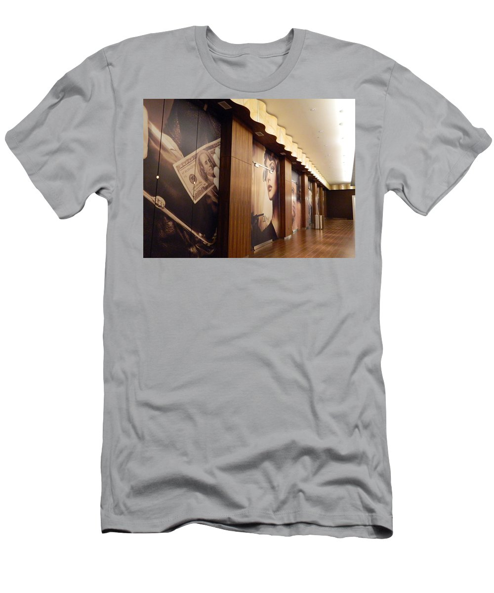Brown Men's T-Shirt (Athletic Fit) featuring the photograph The Brown Room by Arlane Crump