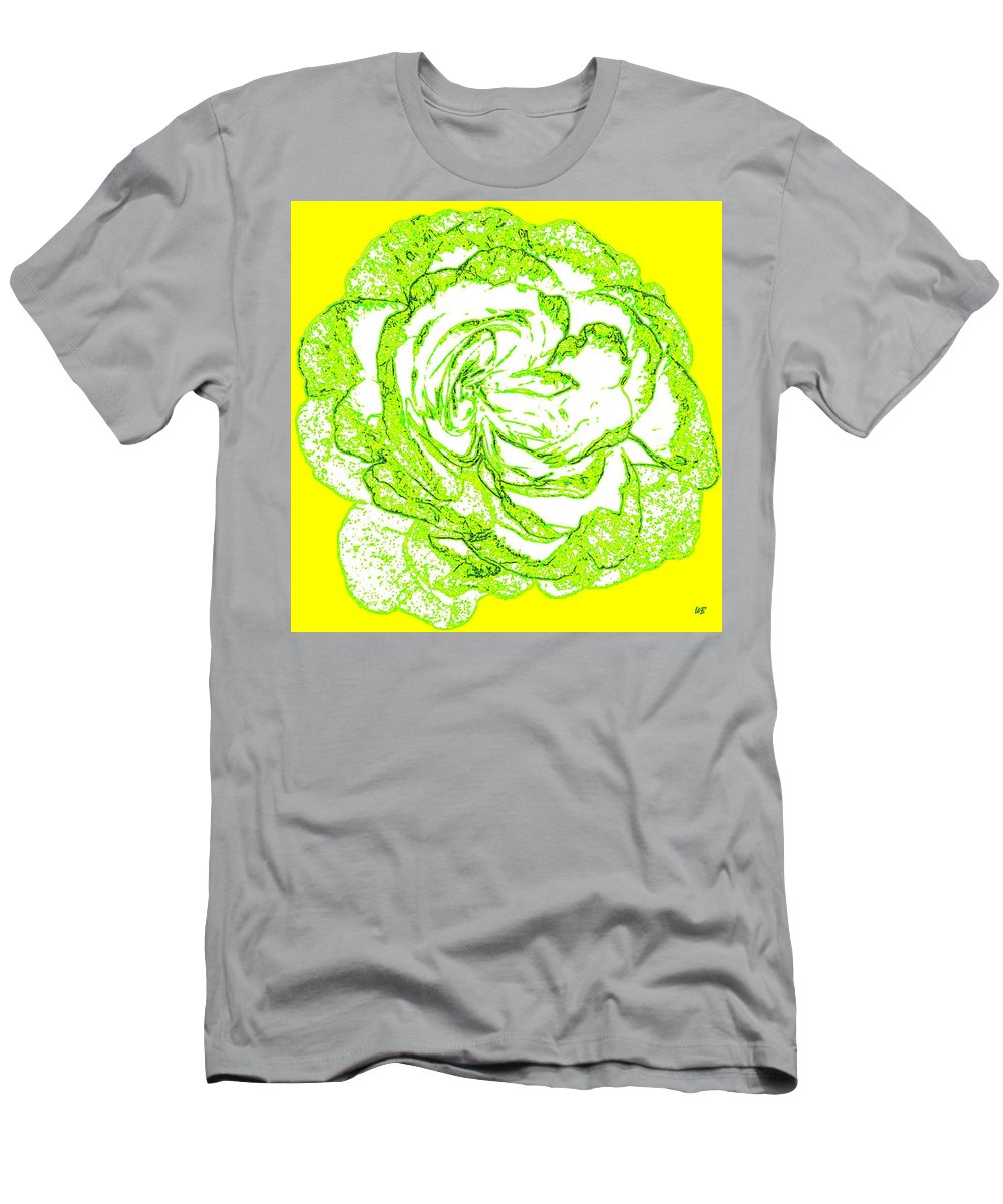 Abstract Men's T-Shirt (Athletic Fit) featuring the digital art The Cabbage Rose by Will Borden