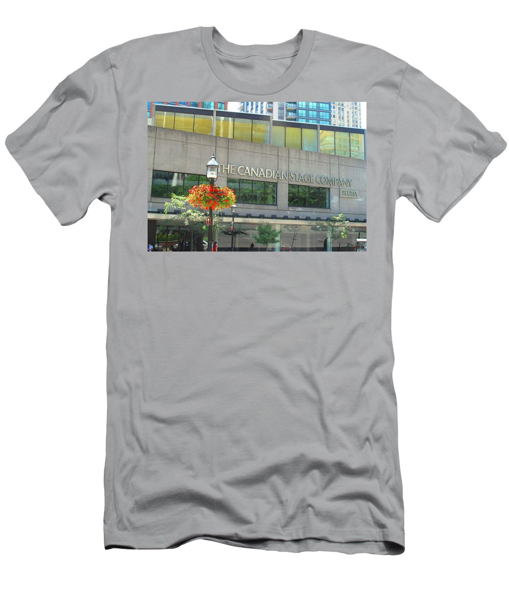 Canada Men's T-Shirt (Athletic Fit) featuring the photograph The Canadian Stage Company by Ian MacDonald