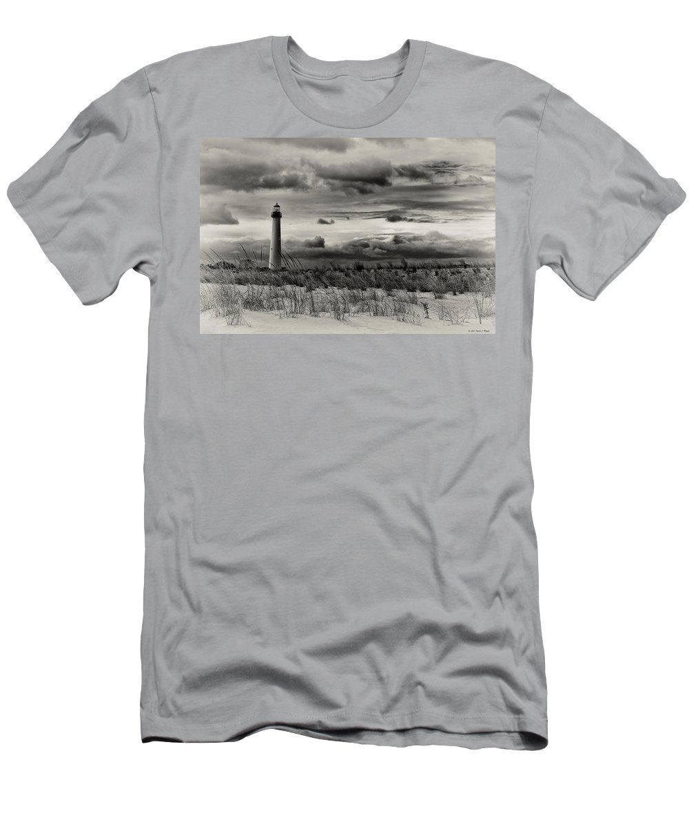 Cape May Men's T-Shirt (Athletic Fit) featuring the photograph The Cape by Scott Wyatt
