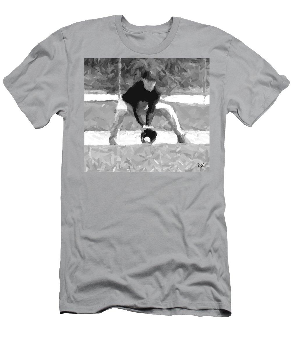 Digital Men's T-Shirt (Athletic Fit) featuring the digital art The Catch II by Maria Watt