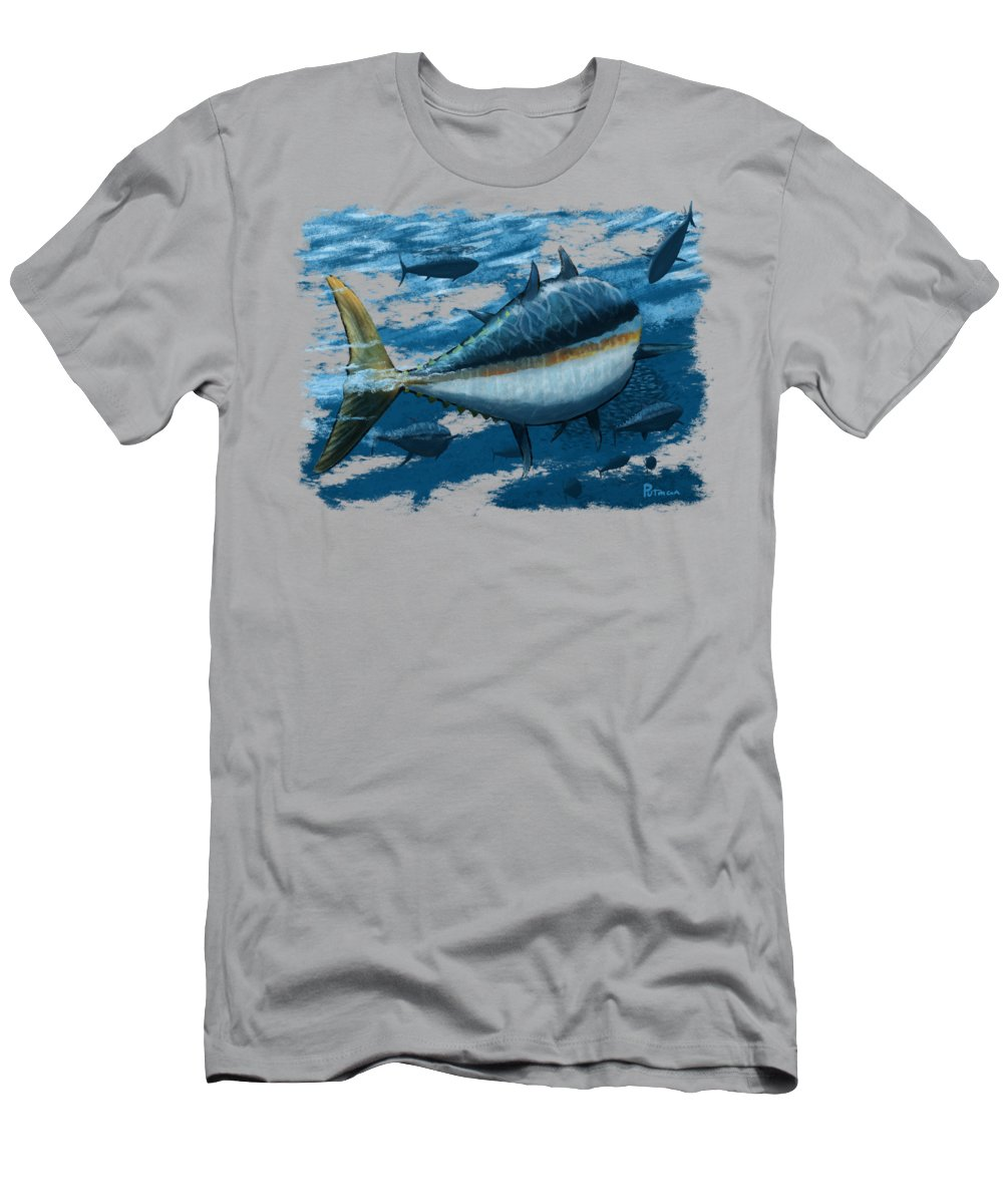Tuna T-Shirt featuring the digital art The Chase by Kevin Putman