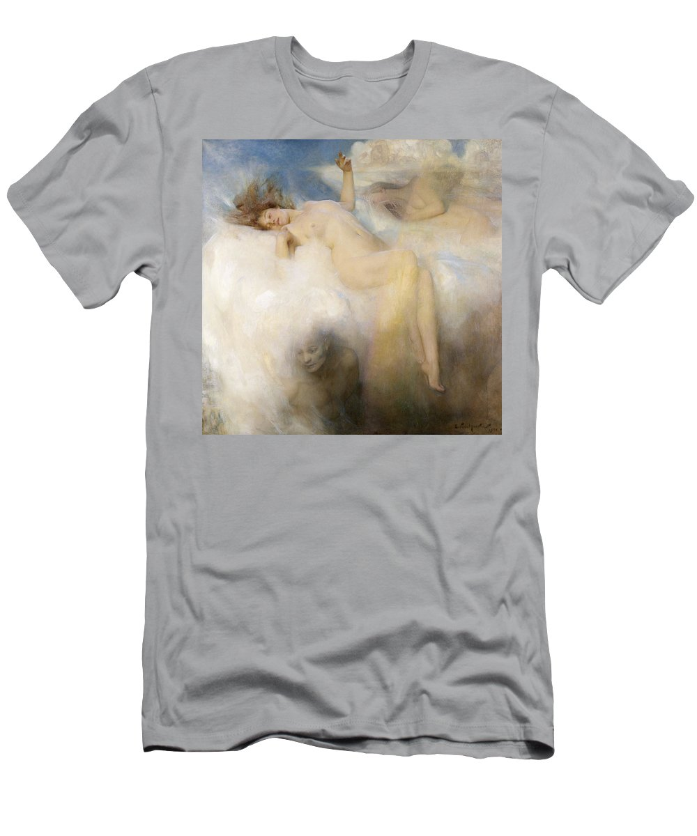 The Men's T-Shirt (Athletic Fit) featuring the painting The Cloud by Arthur Hacker