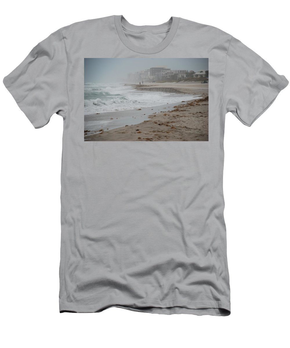 Water Men's T-Shirt (Athletic Fit) featuring the photograph The Coast by Rob Hans