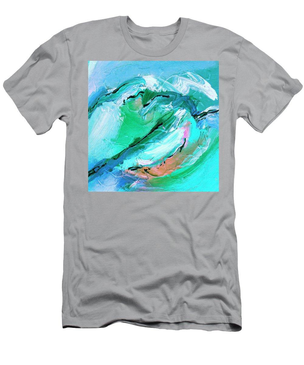 The Coastal Range Men's T-Shirt (Athletic Fit) featuring the painting The Coastal Range by Dominic Piperata