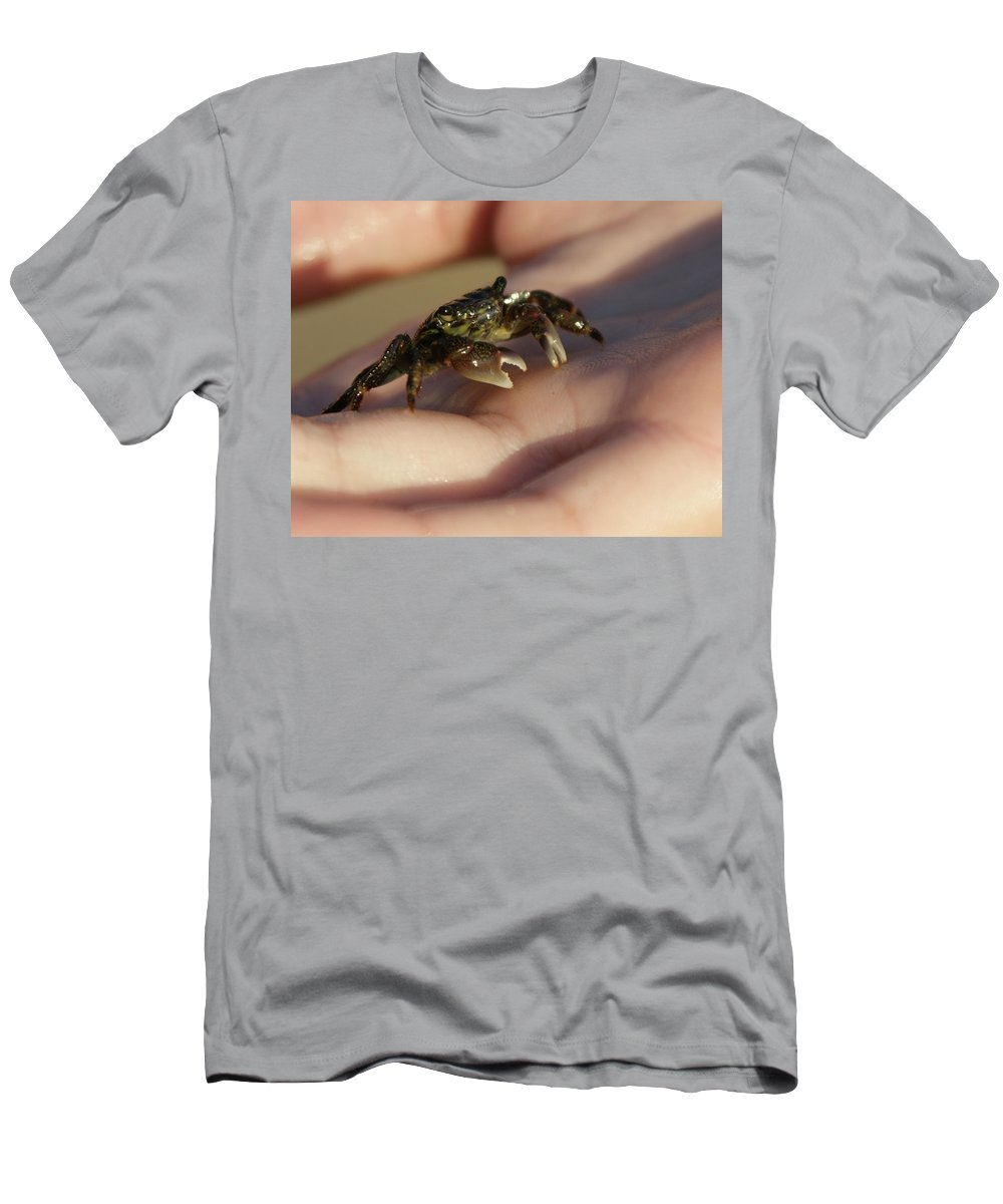 The Crab Men's T-Shirt (Athletic Fit) featuring the photograph The Crab by Ernie Echols