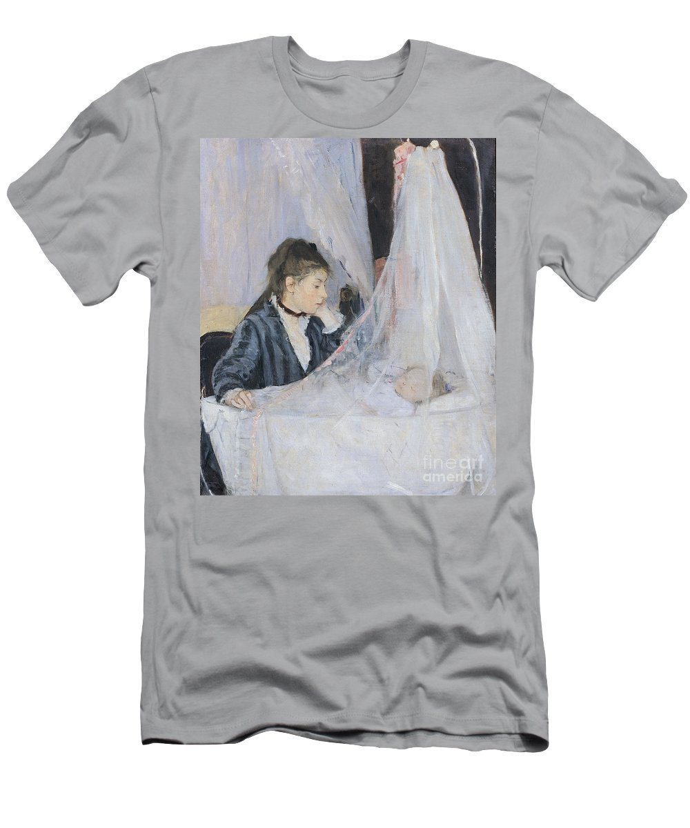 Mother Men's T-Shirt (Athletic Fit) featuring the painting The Cradle by Berthe Morisot
