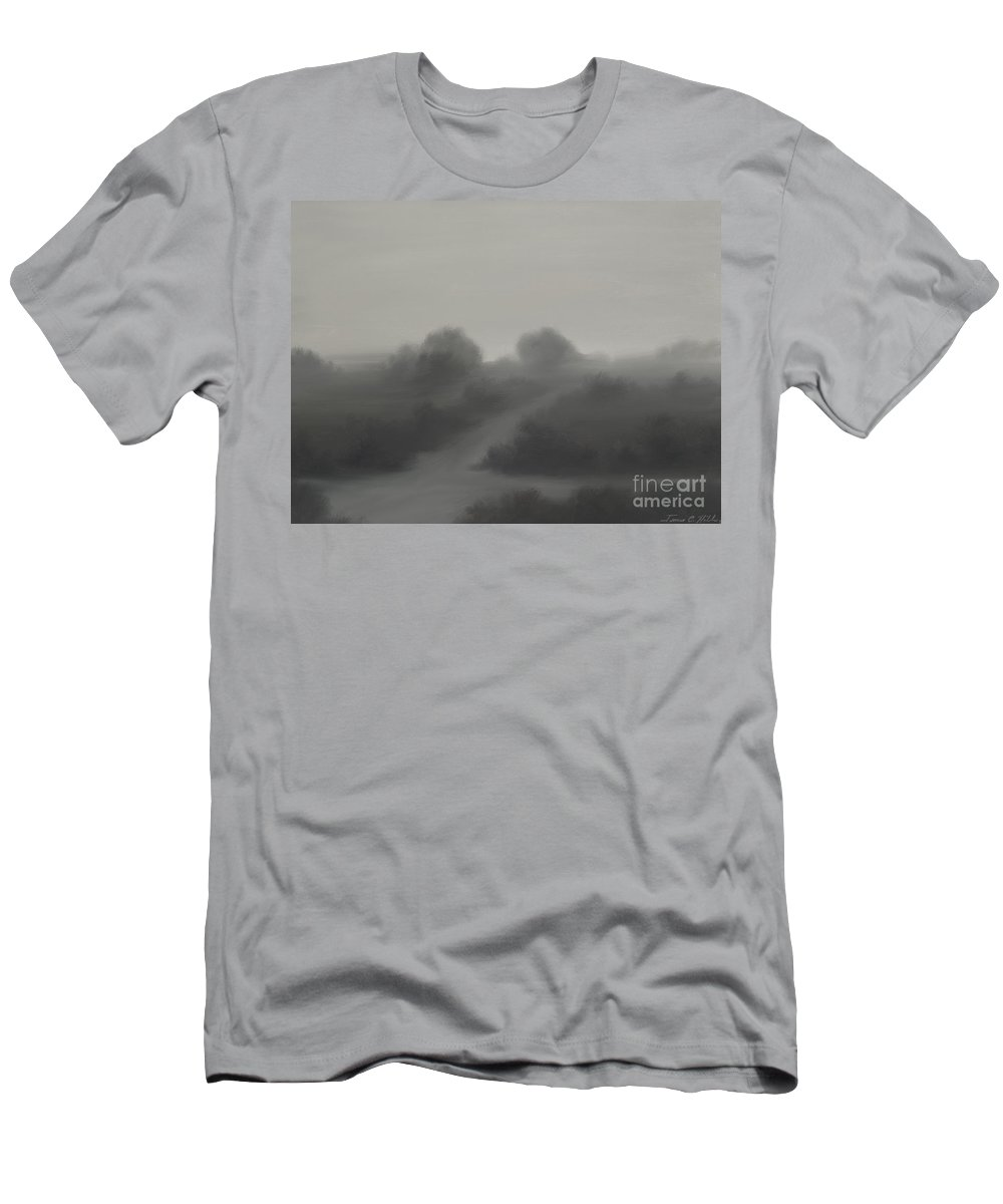 Landscape Men's T-Shirt (Athletic Fit) featuring the painting The Crossroads by James Christopher Hill