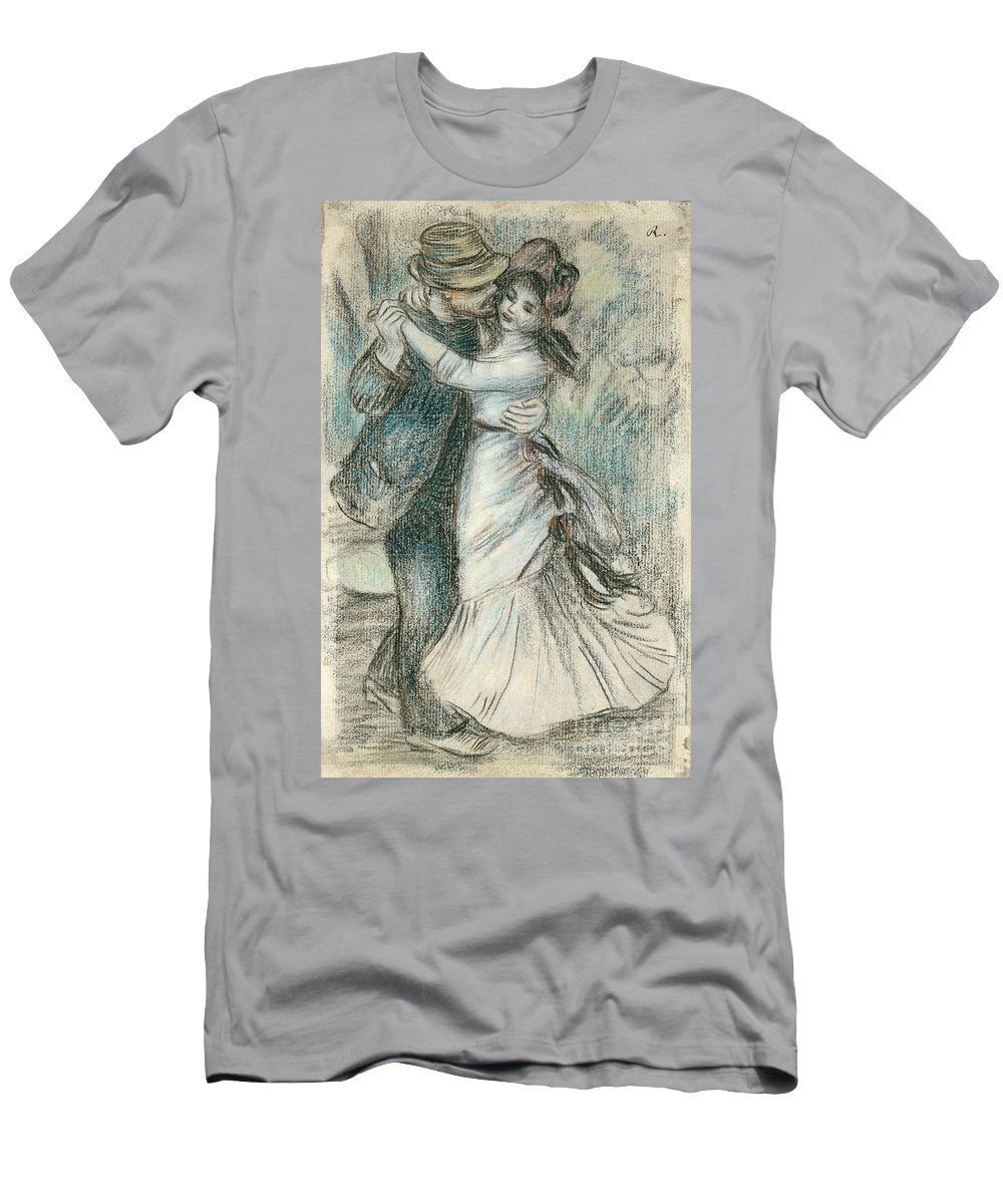 The Men's T-Shirt (Athletic Fit) featuring the drawing The Dance by Pierre Auguste Renoir