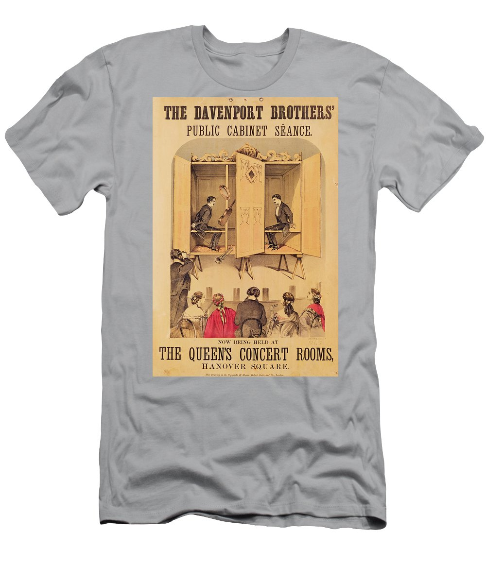Magic Men's T-Shirt (Athletic Fit) featuring the painting The Davenport Brothers by English School