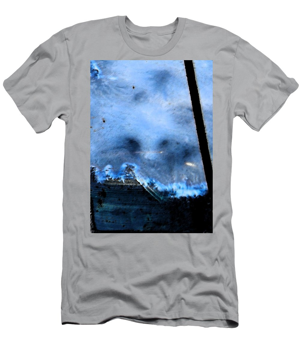 Abstract Men's T-Shirt (Athletic Fit) featuring the digital art The Empty Ship by Lenore Senior