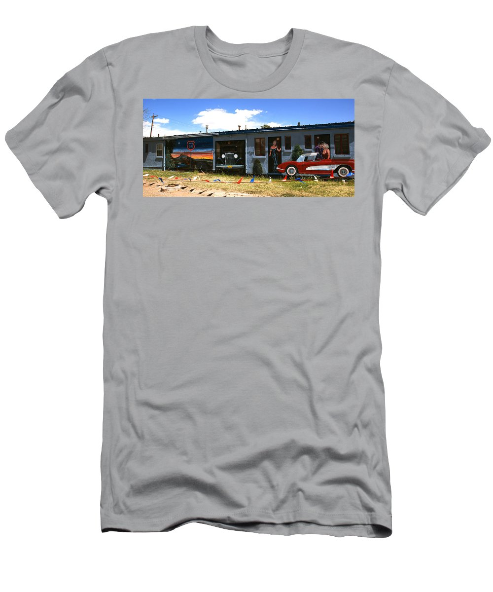 Route 66 T-Shirt featuring the photograph The famous murals on Route 66 by Susanne Van Hulst