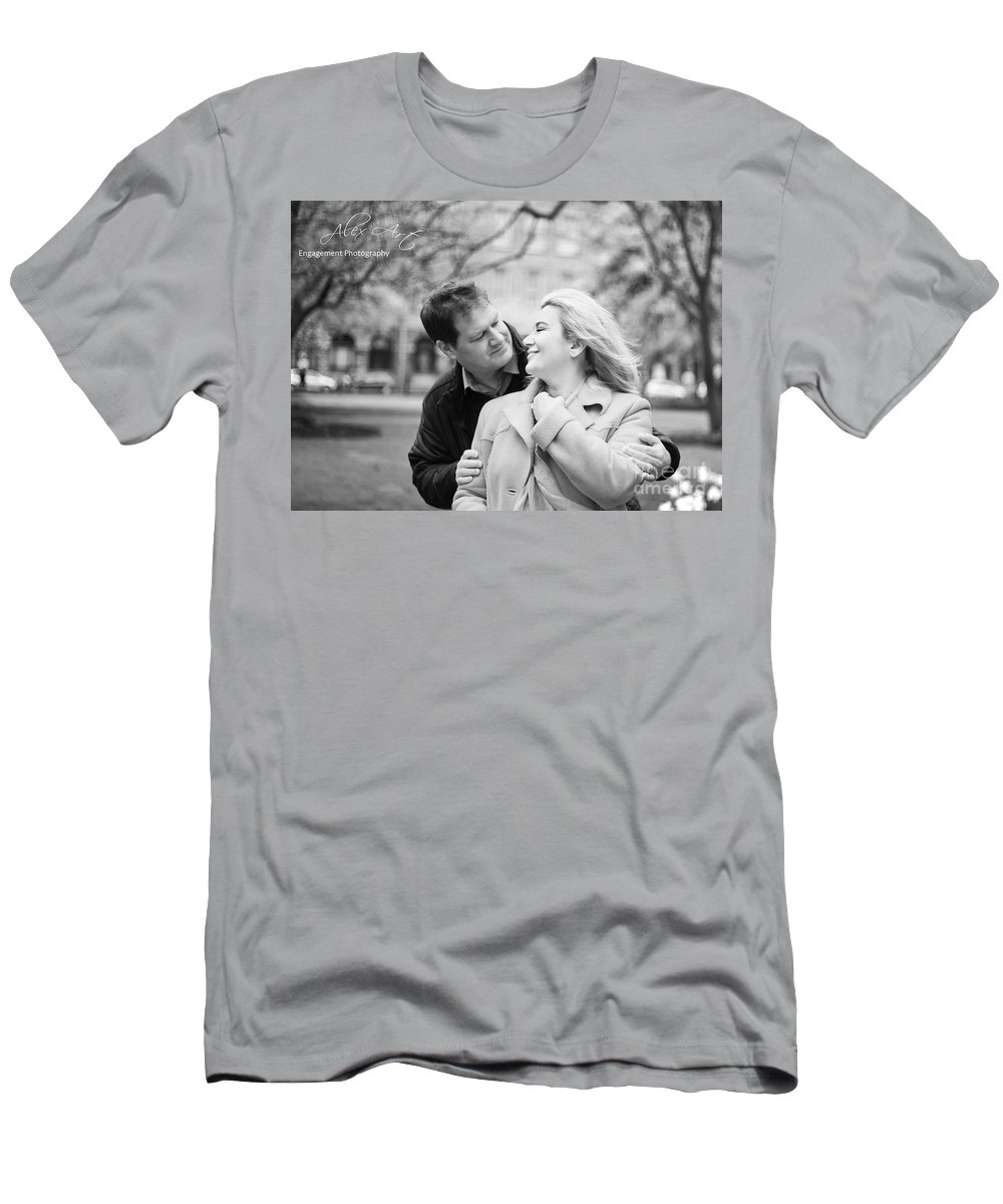 Engagement Men's T-Shirt (Athletic Fit) featuring the photograph The Feeling by Alex Art and Photo