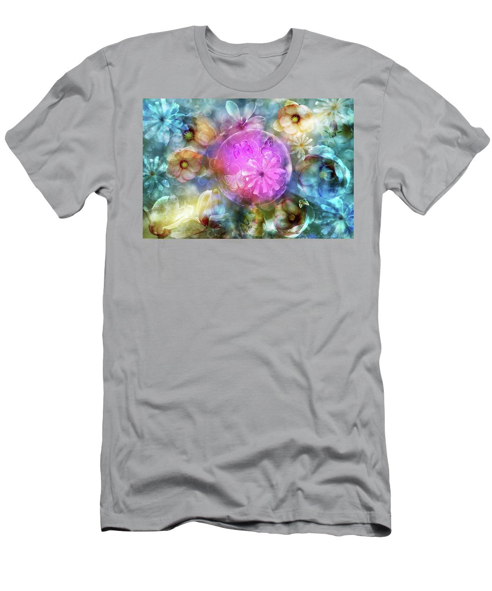 Floating Garden Men's T-Shirt (Athletic Fit) featuring the photograph The Floating Garden by Ludmila SHUMILOVA