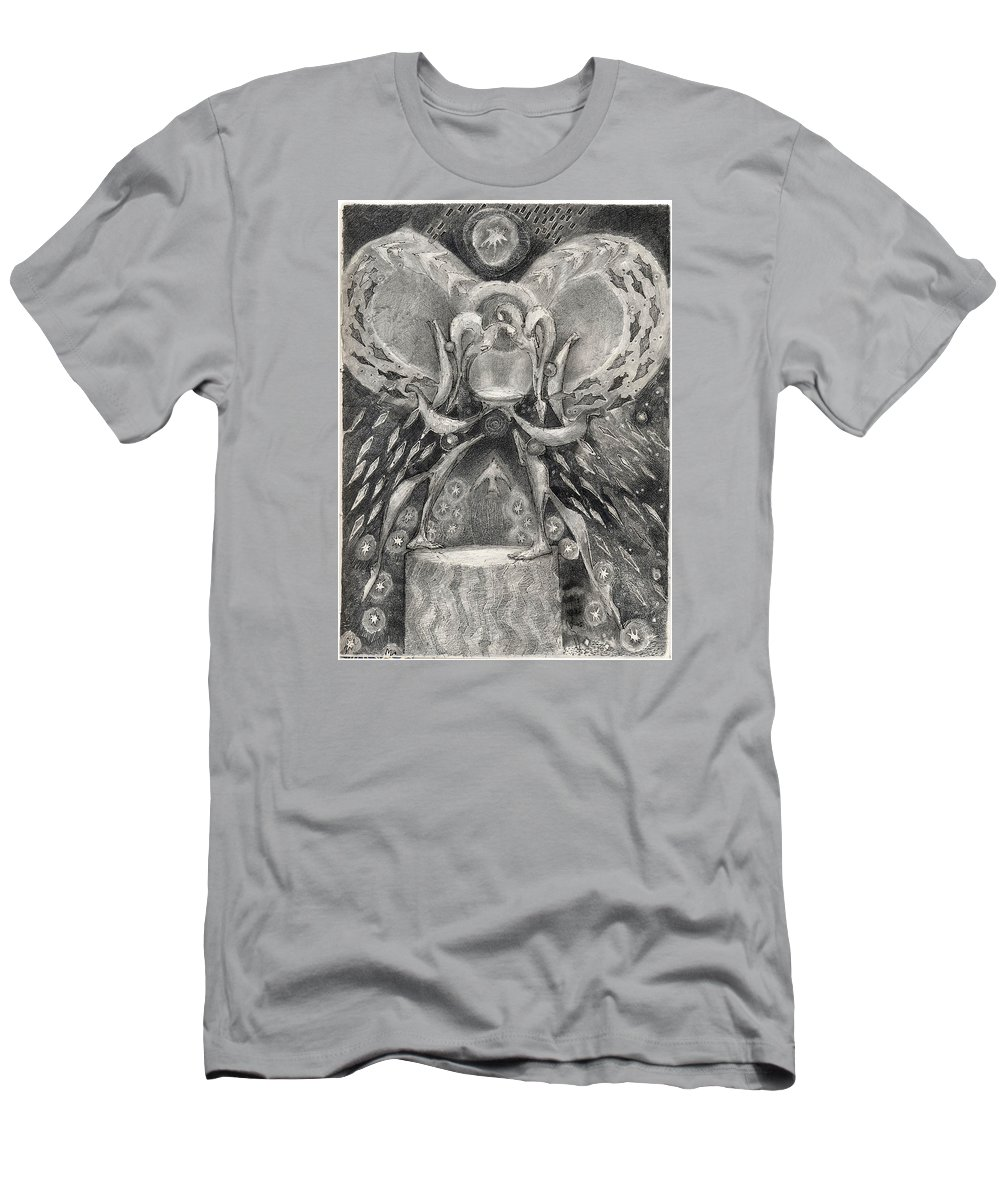 The Gift Men's T-Shirt (Athletic Fit) featuring the drawing The Gift II by Juel Grant