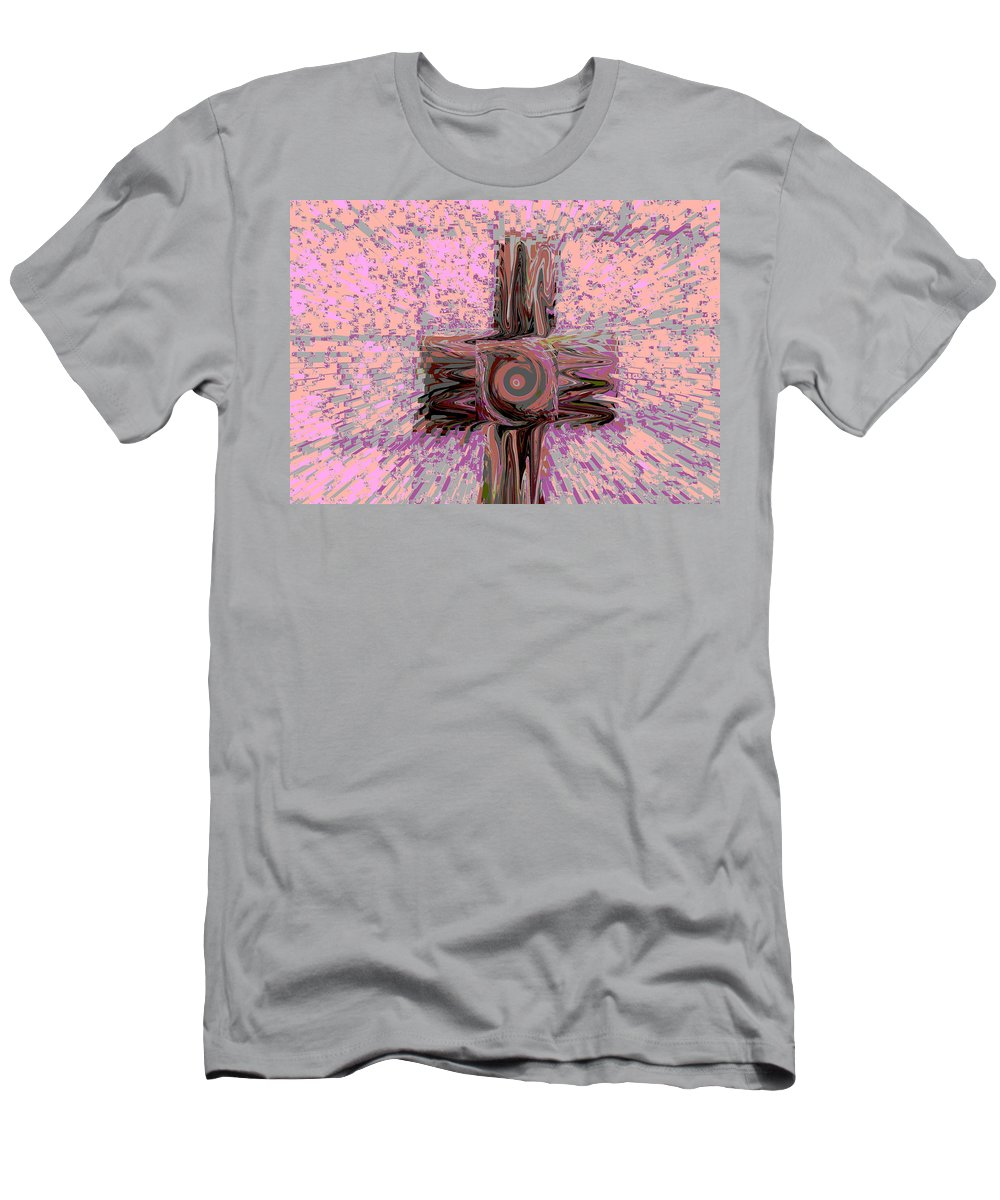 Abstract Men's T-Shirt (Athletic Fit) featuring the digital art The Good Are The Targets by Lenore Senior